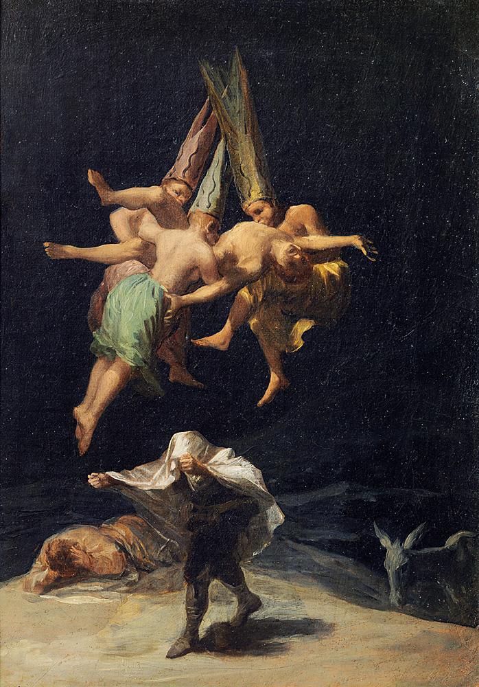 Francisco de Goya (1746–1828) Flug der Hexen, 1797/98 Öl auf Leinwand, 43 × 30,5 cm Museo Nacional del Prado, Madrid © Museo Nacional del Prado, Madrid
