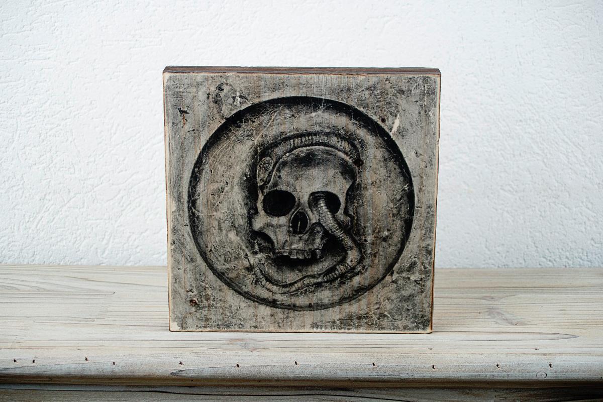 Holzbild Skullt